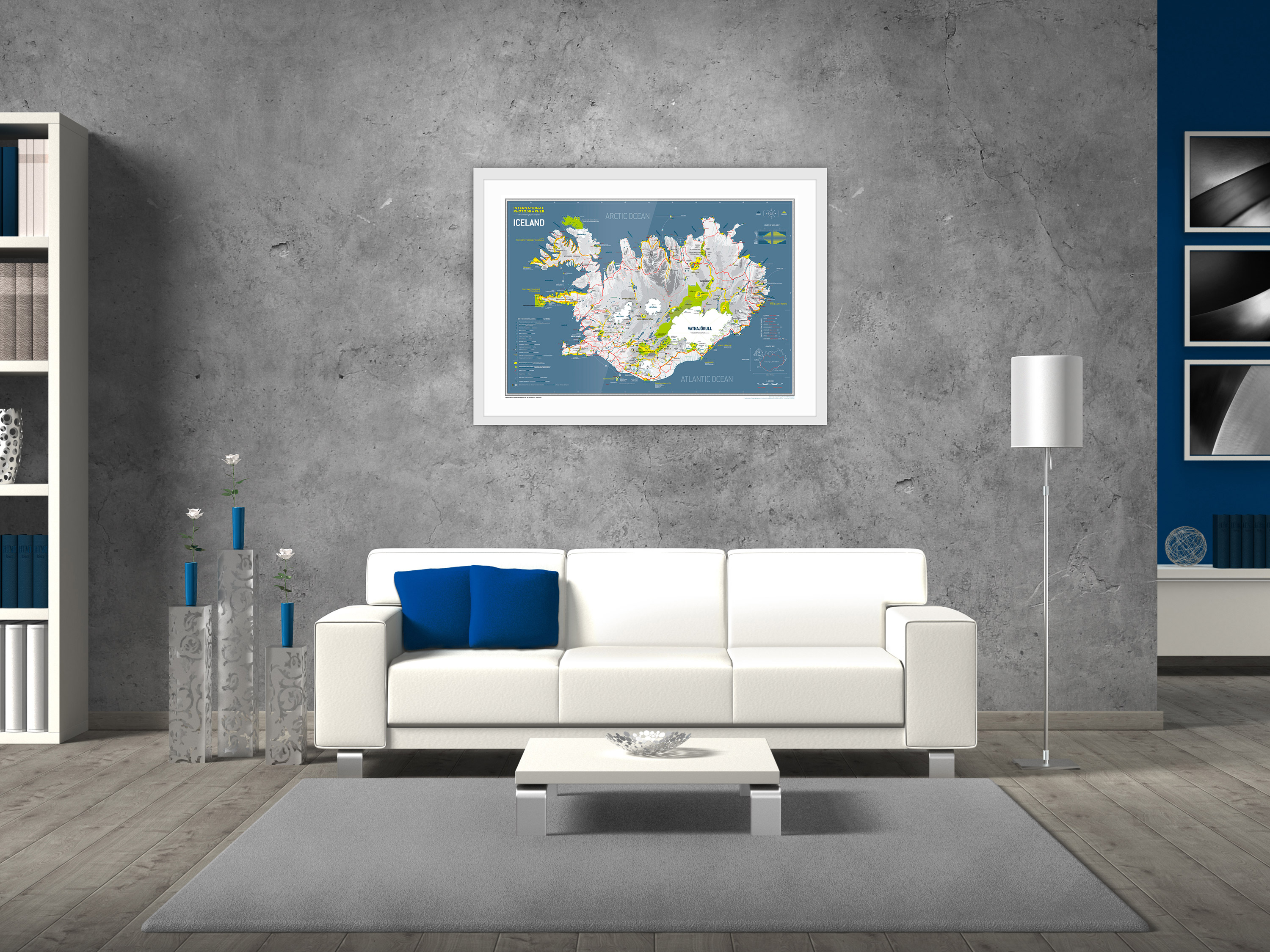 POSTER-ICELAND-MAP