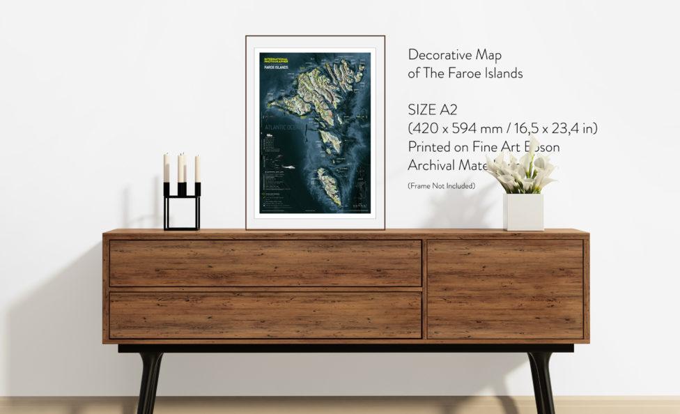 Faroe Islands Map Fine Art