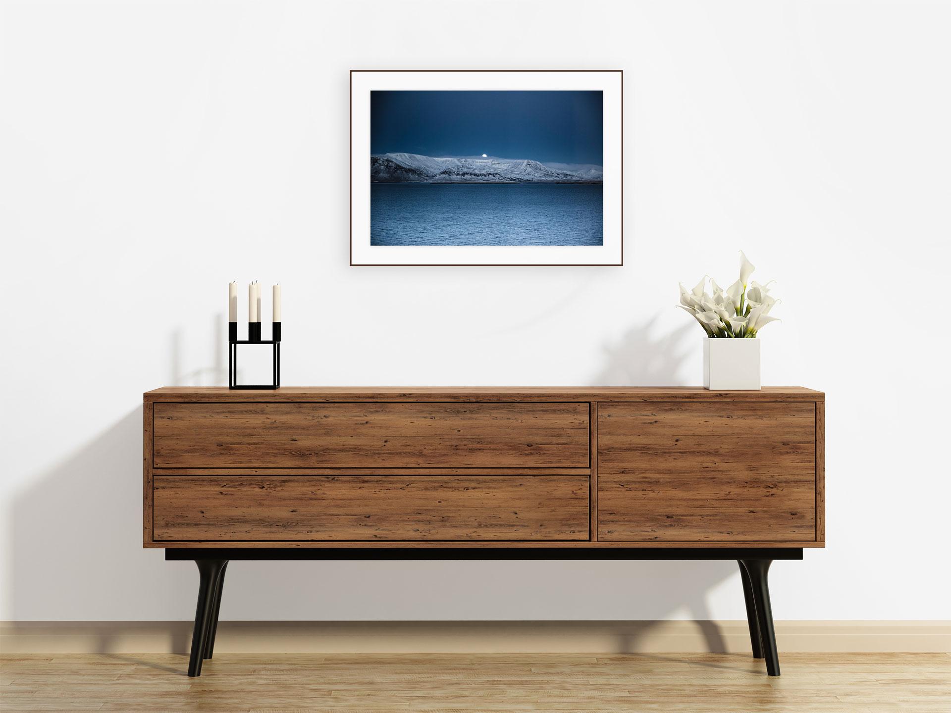 ICELAND-REYKJAVIK-HARPA-FULL-MOON
