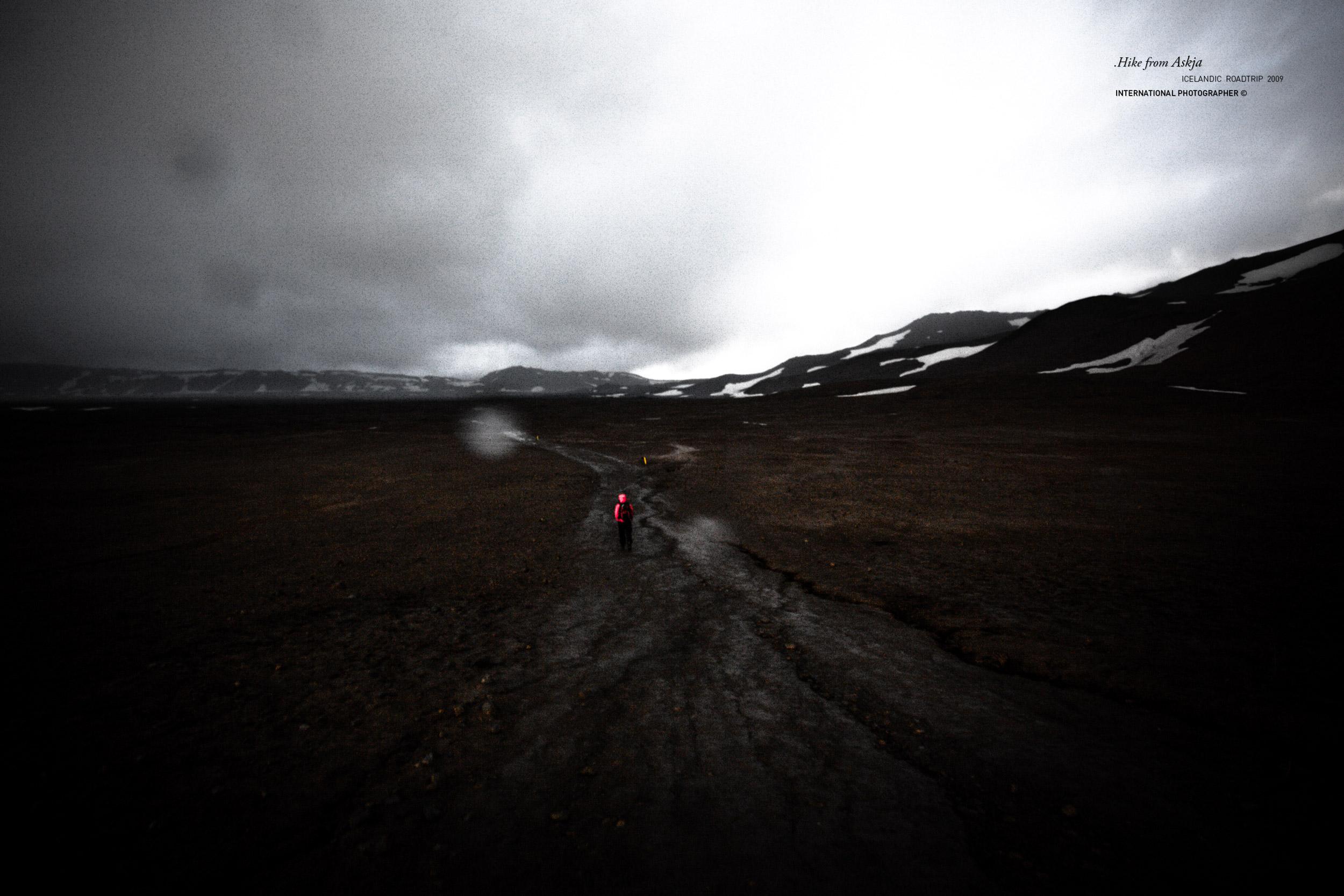 Une randonnée vers Askja sous la pluie