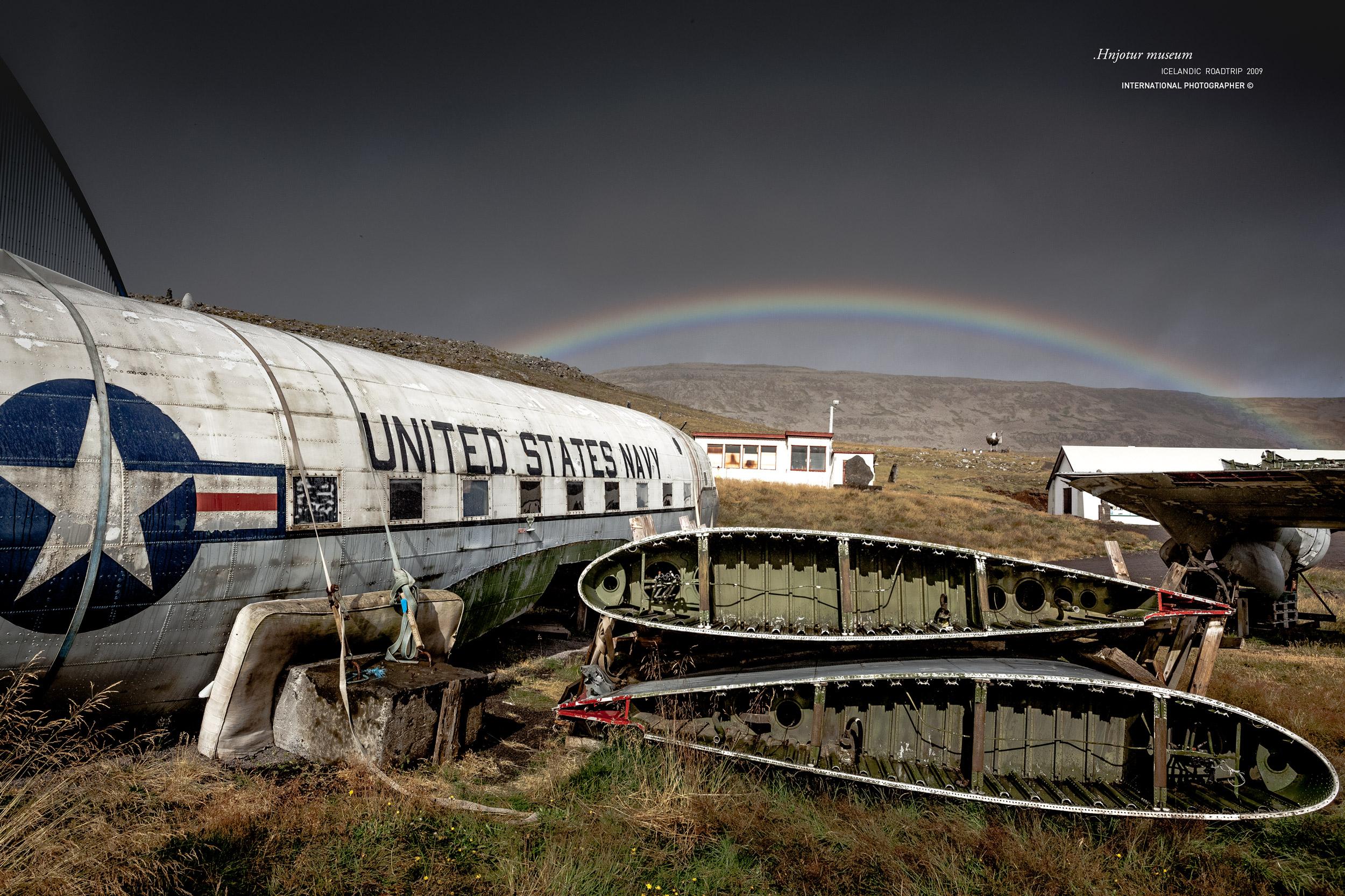 Le musée de Hnjotur et ses vieux avions