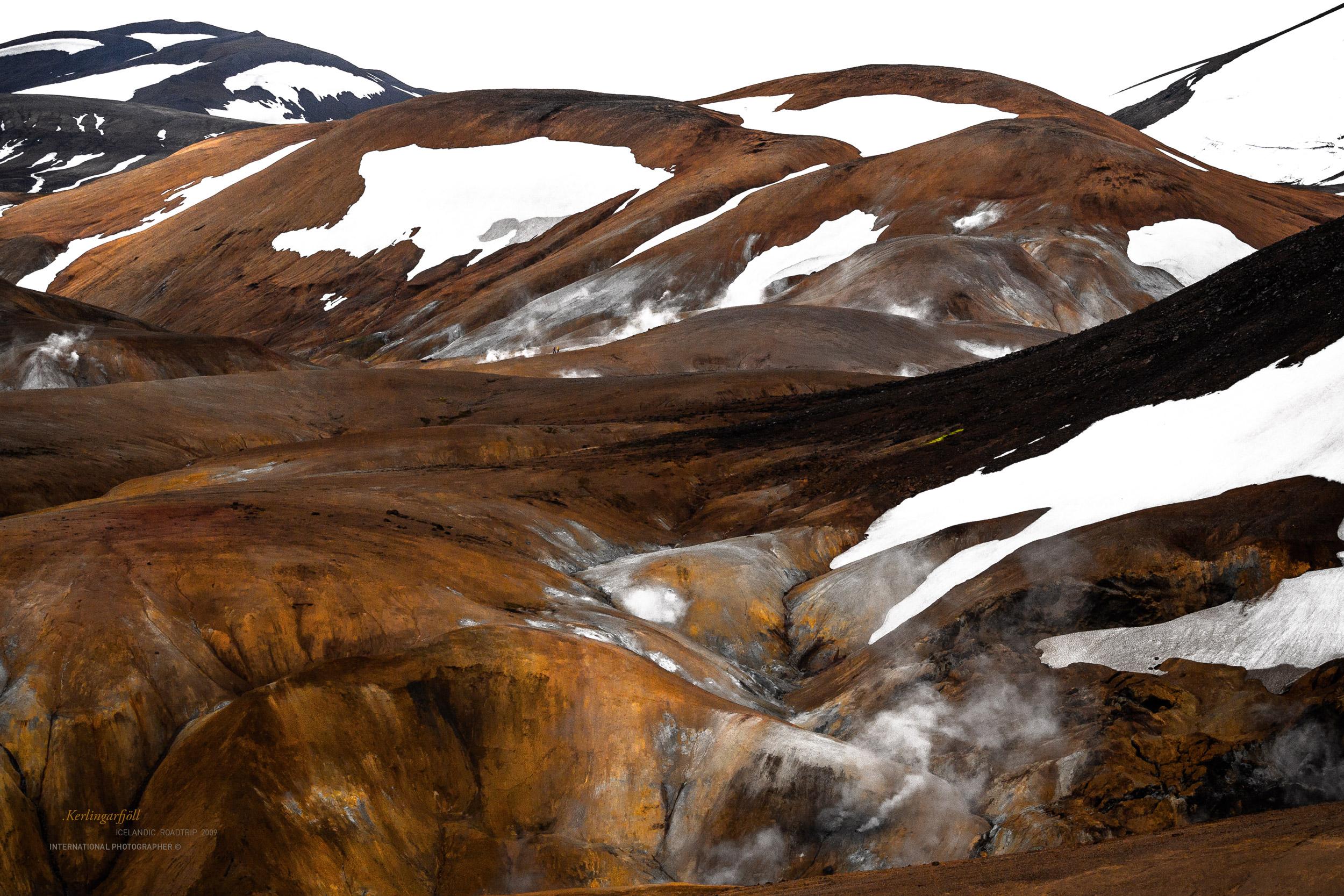 Les montagnes colorées vanille / caramel du Kerlingarfjöll