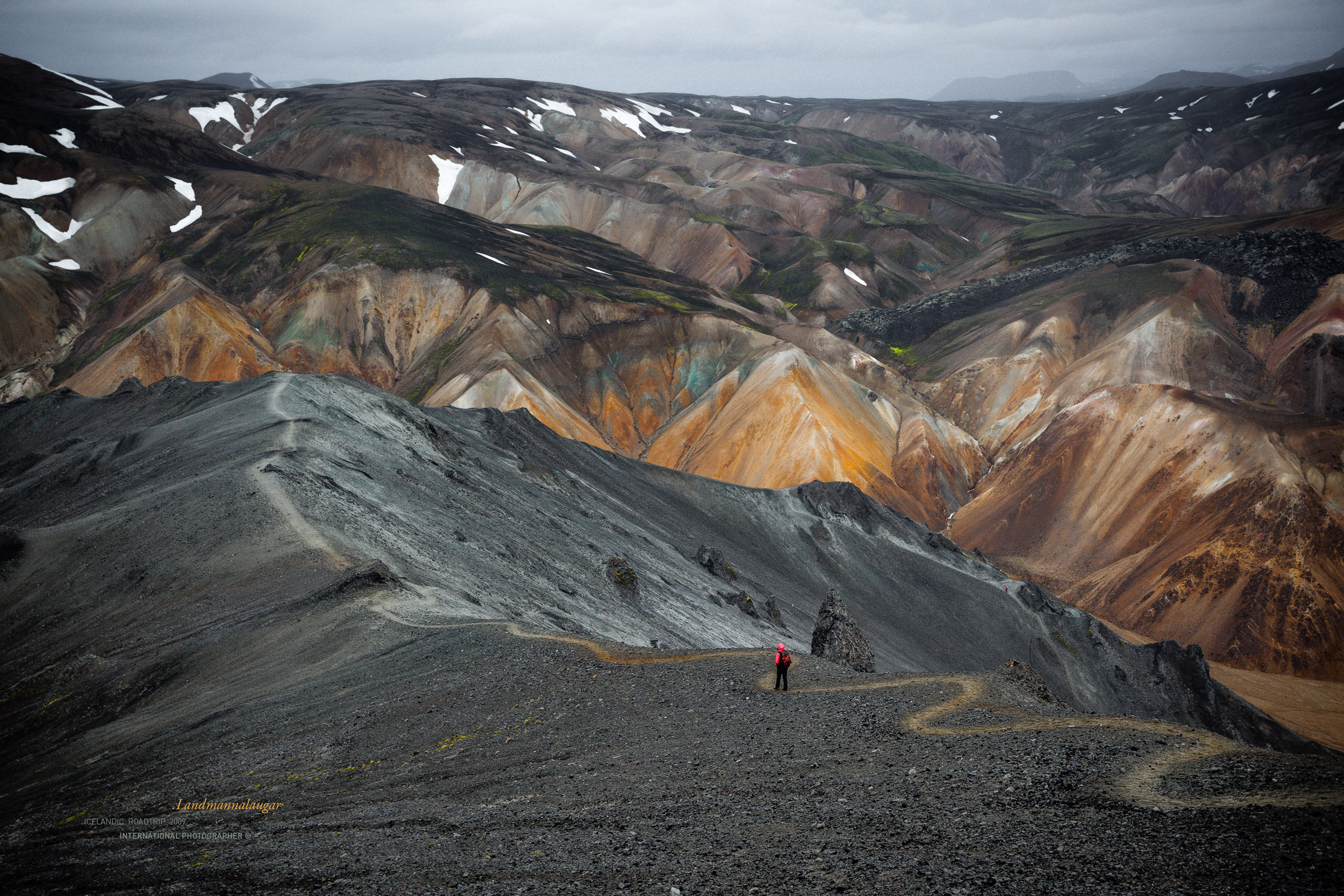 Montagne du Landmannalaugar en Islande
