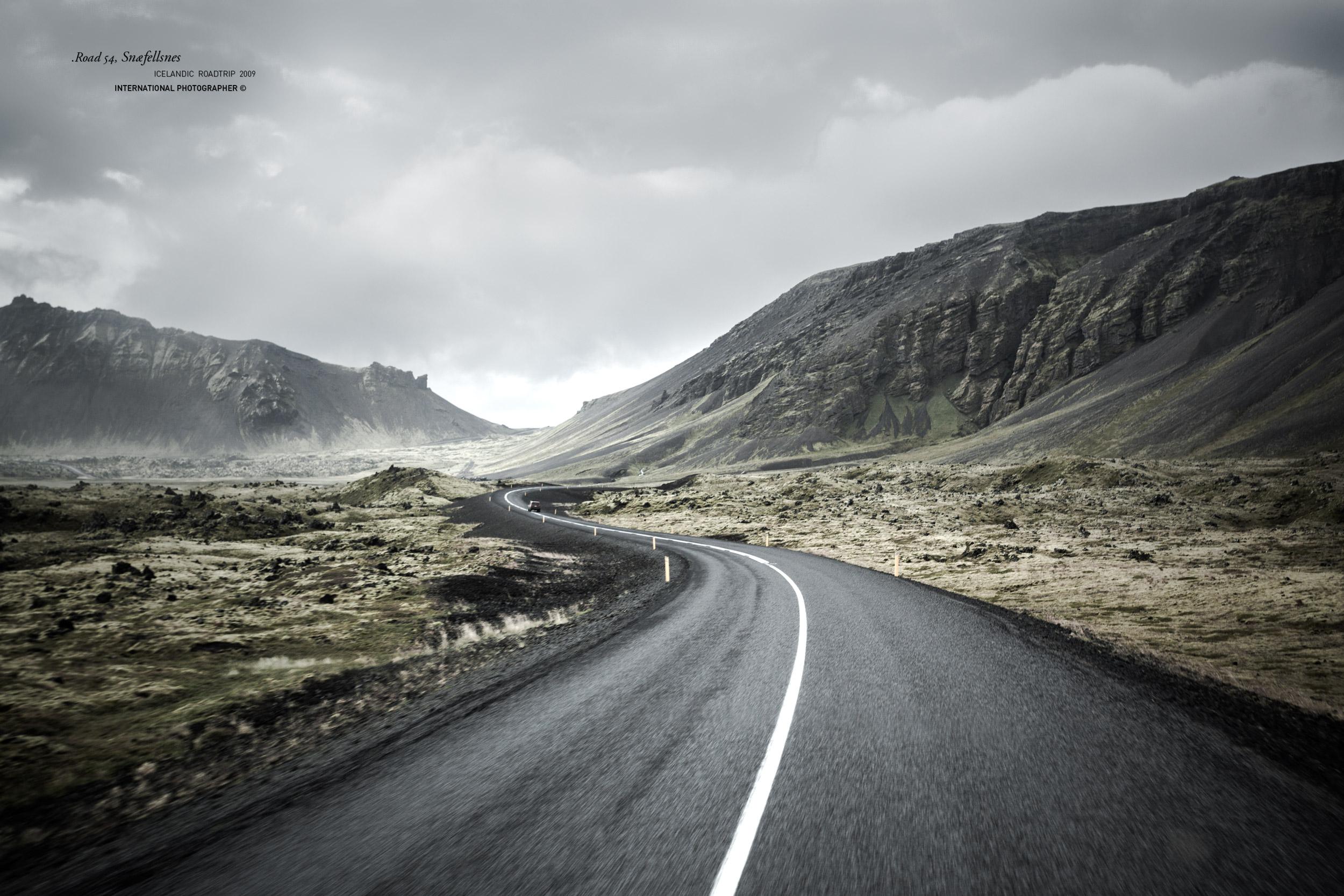 La route 54 qui fait le tour de la péninsule de Snaefellsnes