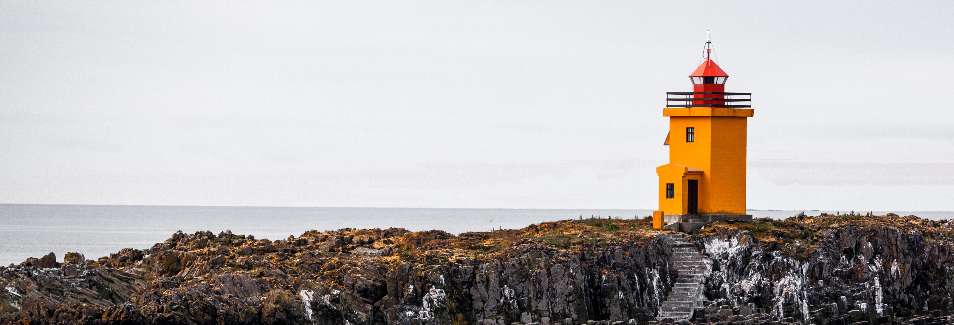 Image sommaire RÉCIT ISLANDE 2012 PARTIE 6. Phare de l'Ile de Flatey.