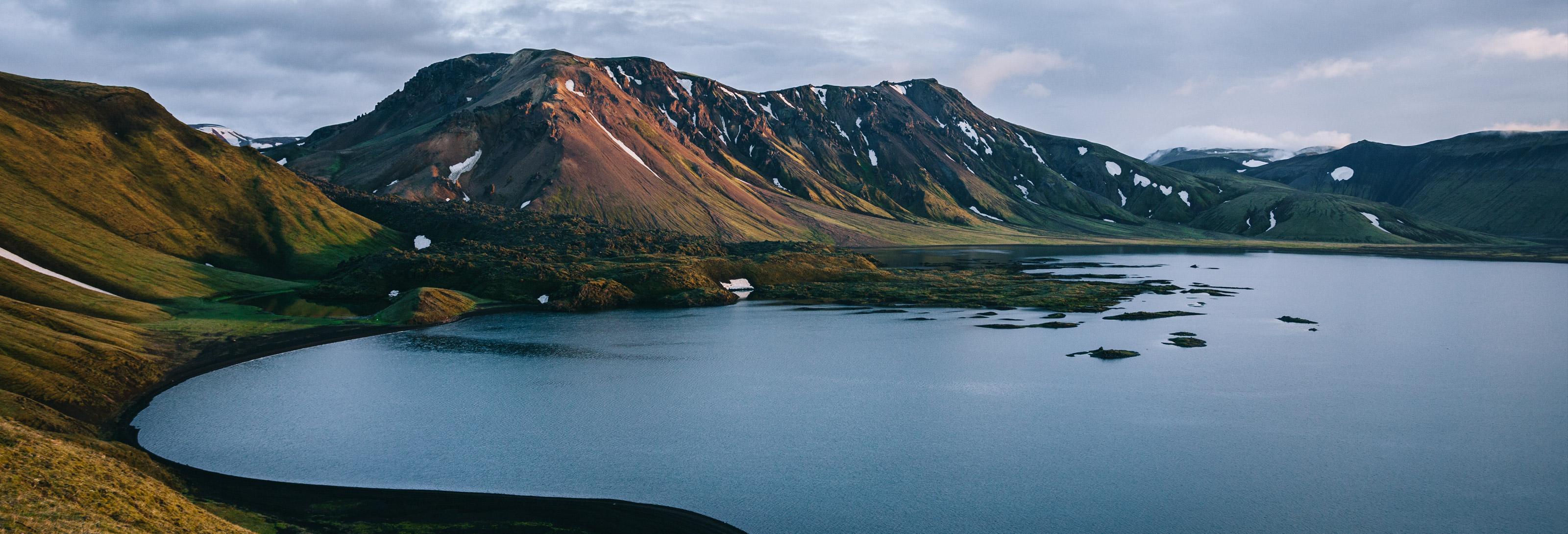 Image sommaire RÉCIT ISLANDE 2012 PARTIE 3. Coucher de soleil sur le lac Frostadavatn.