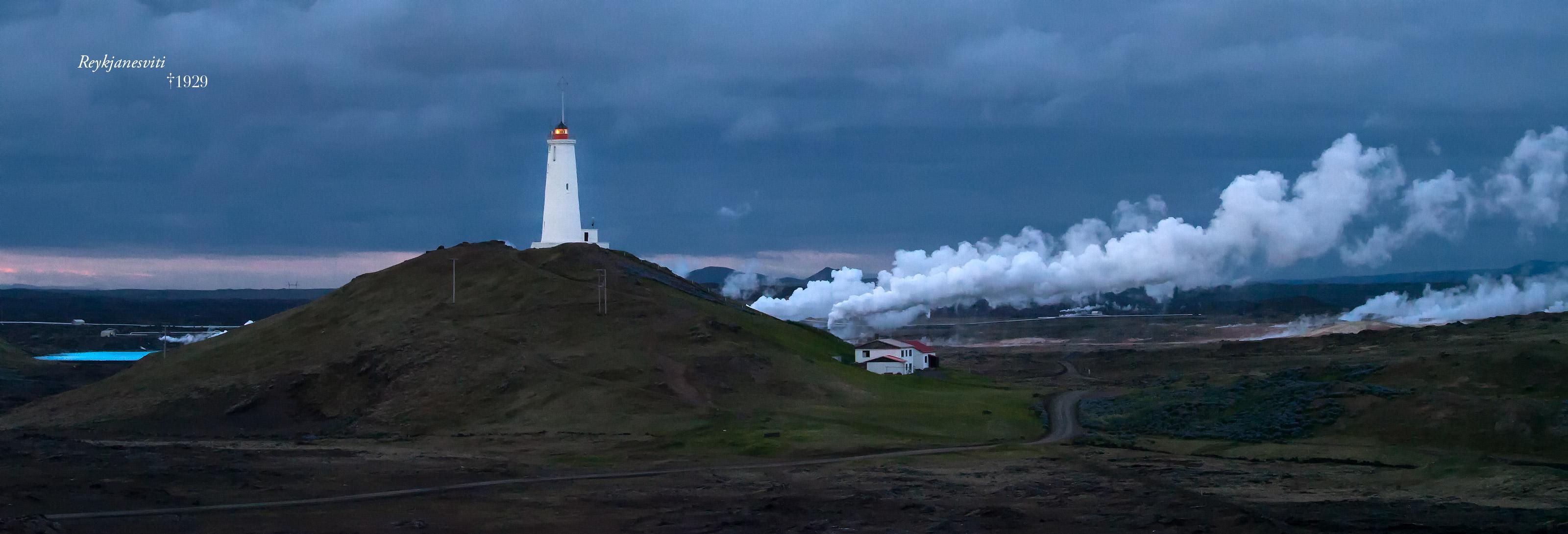 Image sommaire RÉCIT ISLANDE 2012 PARTIE 1. Le phare de Reykjanesta.